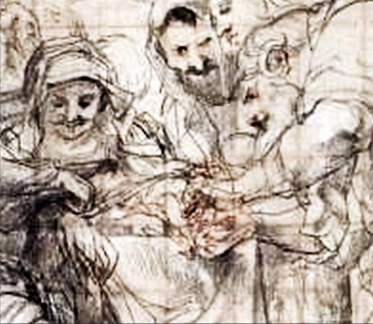 Rubens Besnijdenis blokpatroon vergroot